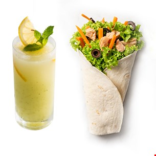 Tuna King Wrap & Limonadă 400ml