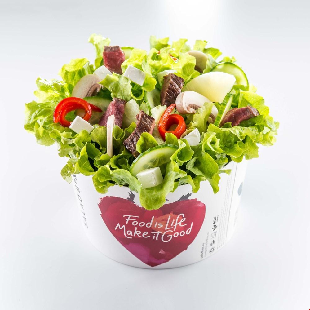 Salată Dakota ciuperci fierte