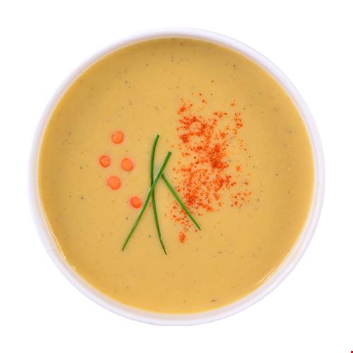 Supă cremă linte roșie de post